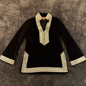 Tory Burch vintage black velvet tunic